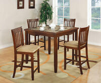 Faux Marble Counter Height Dining Set!  FREE Shipping!
