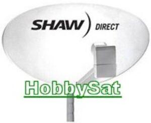 75e Star Choice Shaw Direct satellite dish quad triple lnb x