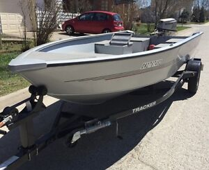 2012 16 foot aluminum fishing boat, motor and trailer package