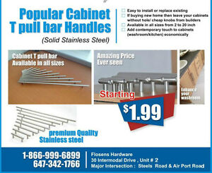  Cabinet handle Bar Pulls SQUARE ROUND  ( Inventory Sale ) SOLID