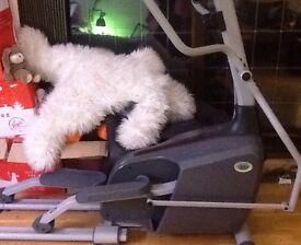 Elliptical trainer machine