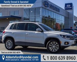 2014 Volkswagen Tiguan Comfortline ACCIDENT FREE & ONE OWNER