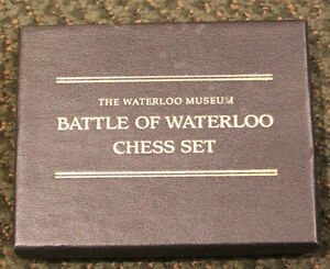 BATTLE OF WATERLOO CHESS SET CARDS ONLY