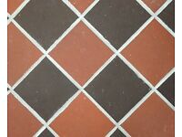 Natural Stoneware Square Floor Tiles X 4 Boxes - Victorian Style