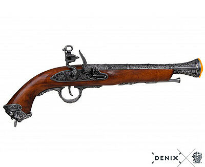 Denix Pirate 18th Century Flintlock Blunderbuss Pistol Replica Gun Grey - 1031/G