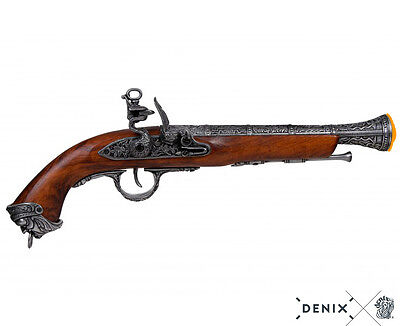 Denix Pirate 18th Century Flintlock Blunderbuss Pistol Replica Gun Grey - 1031/G