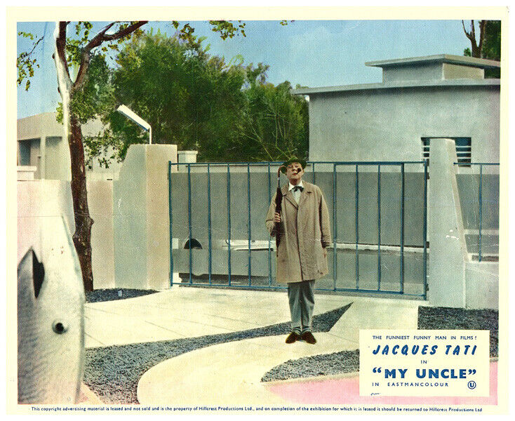 Mon Oncle My Uncle original Lobby Card Jacques Tati French Comedy Classic Rare