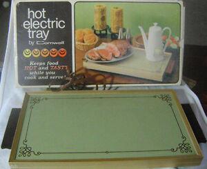 Cornwall Hot  Electric Tray - Avocado green