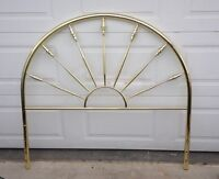 Double head board and a metal bed frame