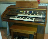 Farfisa FK40 Organ, Bench and Music Books