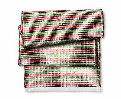 Red green and Navy Chindi   table runner 14