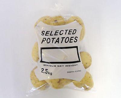 1000 x Clear 2.5 KG Potato Bags 10x15.5