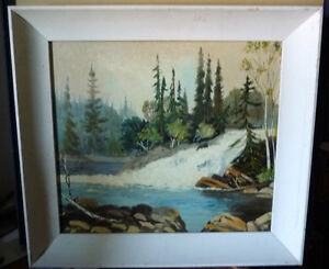 "Algonquin, Original Oil Painting by R. Dogger ""Wild River"" 1950 Stratford Kitchener Area image 1"
