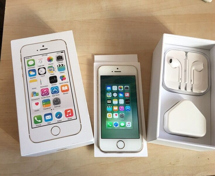 IPHONE 5S 16GB ON EEin Derby, DerbyshireGumtree - GOLD IPHONE 5S Mint condition perfect screen and has screen protector fitted , comes boxed with charger and head phones sim pin tool Can deliver if needed or welcome to collect