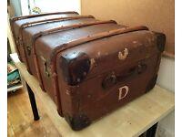 Vintage trunk travel case