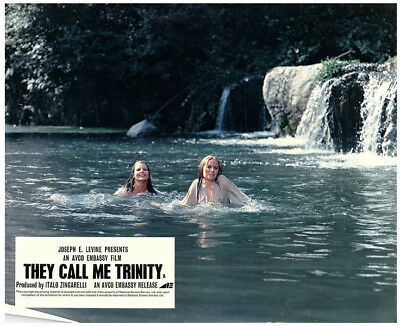 They Call Me Trinity Original Lobby Card 1970 Gisela Hahn Elena Pedamonte Swim