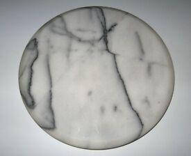 LAZY SUSAN SOLID MARBLE, WHITE AND BLACK BRAND NEW BOXED NEVER USED! *NO TEXTS PLEASE*