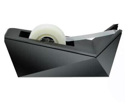 Scotch Desktop Tape Dispenser Metallic Black 1 Core - Refillable - Metallic