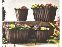 *** new *** set of 4 planters