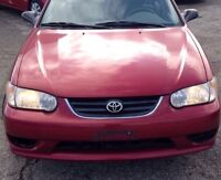 Corolla 2001 CE Low KM **80150** Accident Free