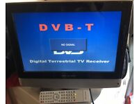 """Wharfedale 15"""" tv with remote"""