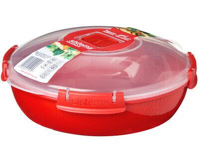 Sistema Microondas Redondo Placa, Rojo 1.3L Recalentar Ventilado Plato Plástico