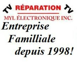 Reparation tv, télé, acl, Led, Del, plasma, lnt,