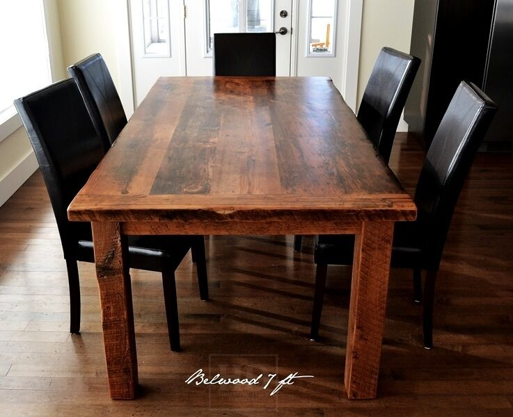 Rustic Reclaimed Threshing Floor Harvest Tables Dining