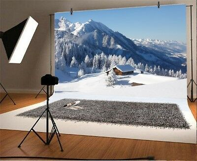 Alps Winter Wonderland Snow Scenic 7x5ft Photography Backgrounds Photo Backdrops](Winter Wonderland Photo Backdrop)