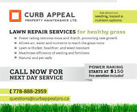 Power Raking with FREE Aeration included