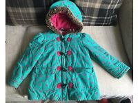 Girls 5-6 years M&S pink/green coat