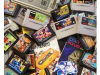 Wanted Retro games and consoles snes sega nintendo etc