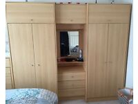7 Door Wardrobe with mirror and light / 3 drawers going cheap