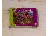 GALT 3D DREADFUL DINOSAURS JIGSAW PUZZLE. 40 x 27CM 60 PIECES COMPLETE AND GOOD CONDITION