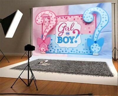 Baby Shower Vinyl Backgrounds 7x5ft Girl Or Boy Photography Studio Backdrops