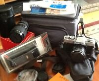 MINOLTA XG-1 , 2 LENSes, FLASH ,BAGS, STRAP , FILTERS, ETC  incl