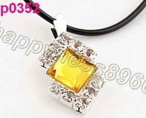 yellow Crystal Charm pendant necklace--NEW!! Moncton New Brunswick image 1