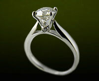 New 0.91CT Solitaire Diamond Engagement Ring in 18KT White Gold