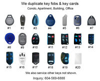 Duplicate Key Fob for Apt, Condo, Office Building