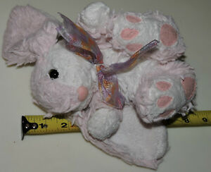 White & Pink Soft Plush Stuffed Bunny Rabbit with Bow London Ontario image 1