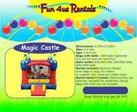 Bouncy Castles for Rent $95-$120 / 24h