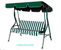 3-Seat Swing Extra Wide Outddor  Bench Chair  201018