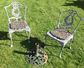 garden chairs & parasol base