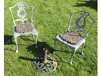 garden chairs & parasol base