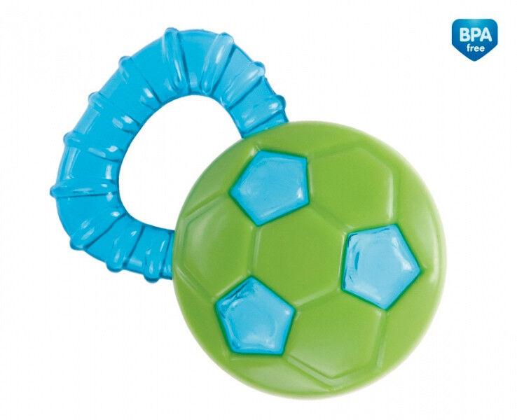 Kühlbeißring ergonomisch Baby-Zahnpflege Beißring Ring Ball   *Fußball*