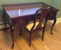Gibbard Canadian Legacy Mahogany Desk and Chair