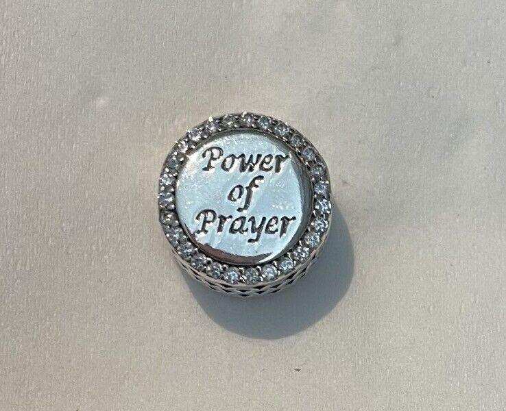 Pre-owned Pandora 792016P Cross Power Of Prayer Bead Silver 925 Charm - $6.01