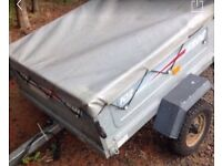 Trailer erde 102 with cover 4 by 3