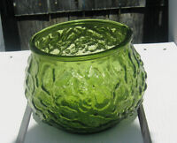 VINTAGE EO BRODY CO USA GREEN GLASS Textured Globe BOWL: Longueuil / South Shore Greater Montréal Preview