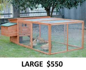 New chicken coops for sale! Hen houses, rabbit hutches, cages Hobart CBD Hobart City Preview
